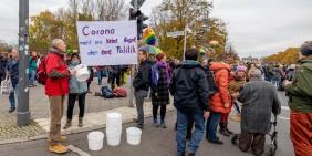 Demonstration am 18. November 2020 in Berlin | Foto: Dirk Wächter