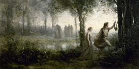 """Camille Corot: """"Orpheus führt Eurydike aus der Unterwelt"""", 1861, Museum of Fine Arts, Houston (Ausschnitt)"""