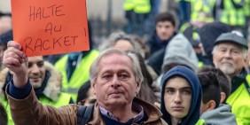 Gelbwesten-Proteste in Paris 2018 | Bild: Birdog Vasile-Radu / Shutterstock