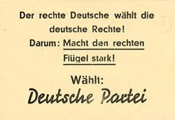 Wahlwerbung zur Bundestagswahl 1953 | Quelle: Landesarchiv Baden-Württemberg, Abt. Staatsarchiv Freiburg, W 124 Nr. 0026 | CC BY 3.0 DE