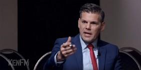 Ken Jebsen bei der Aufzeichnung der Sendung 'Rechtsstaat BRD?' am 29. April 2020