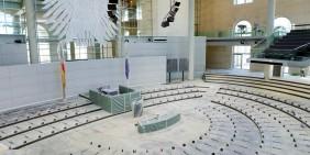 Deutscher Bundestag, Umbau während der Sommerpause   Bild: picture alliance/dpa   Wolfgang Kumm